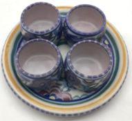 Poole Pottery PB pattern egg cups set.