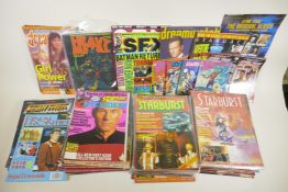 A quantity of 1980s and 1990s science fiction magazines, to include 'Starburst' 'Starlog', 'SFX', '