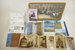 A large quantity of socio-historical ephemera to include postcards, photographs, first day covers