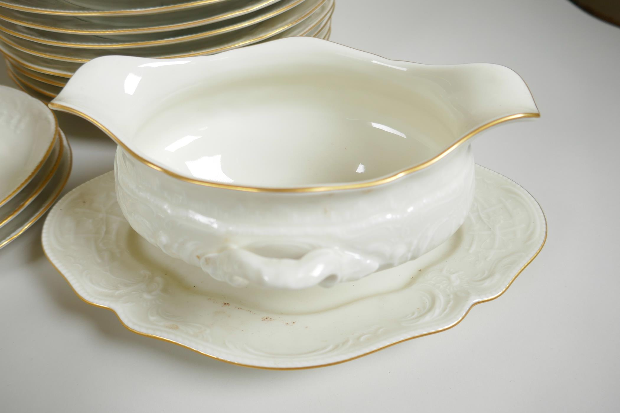 A Rosenthal 'Classic' part dinner and tea service with cream glaze and embossed decoration - Image 2 of 5