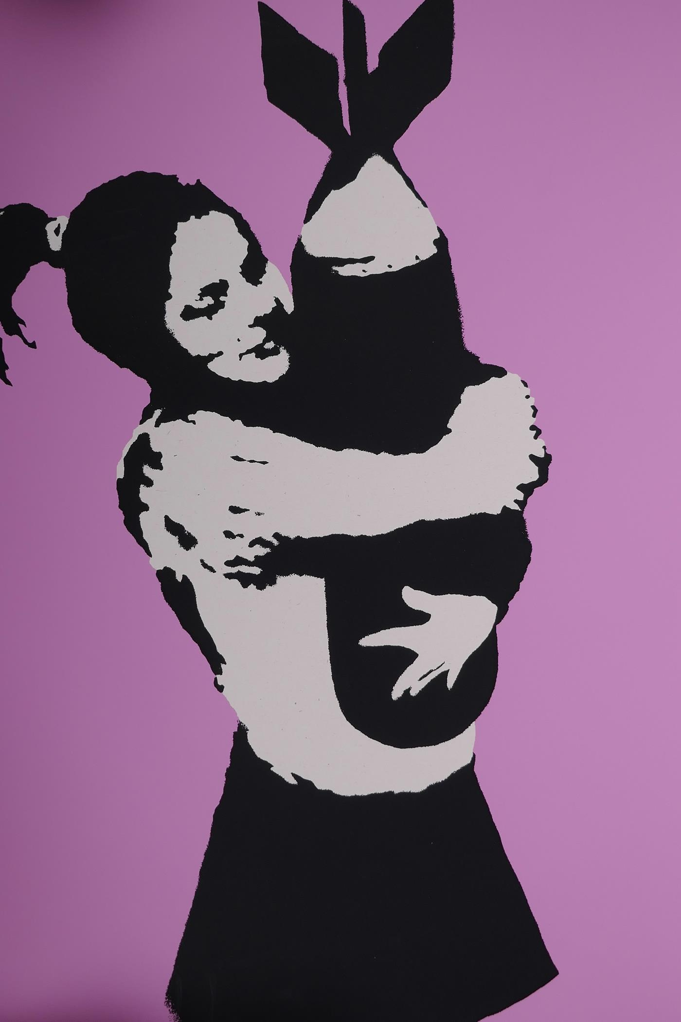 Banksy, 'Bomb Hunger', limited edition print by the West Country Prince, 66/500, with stamps