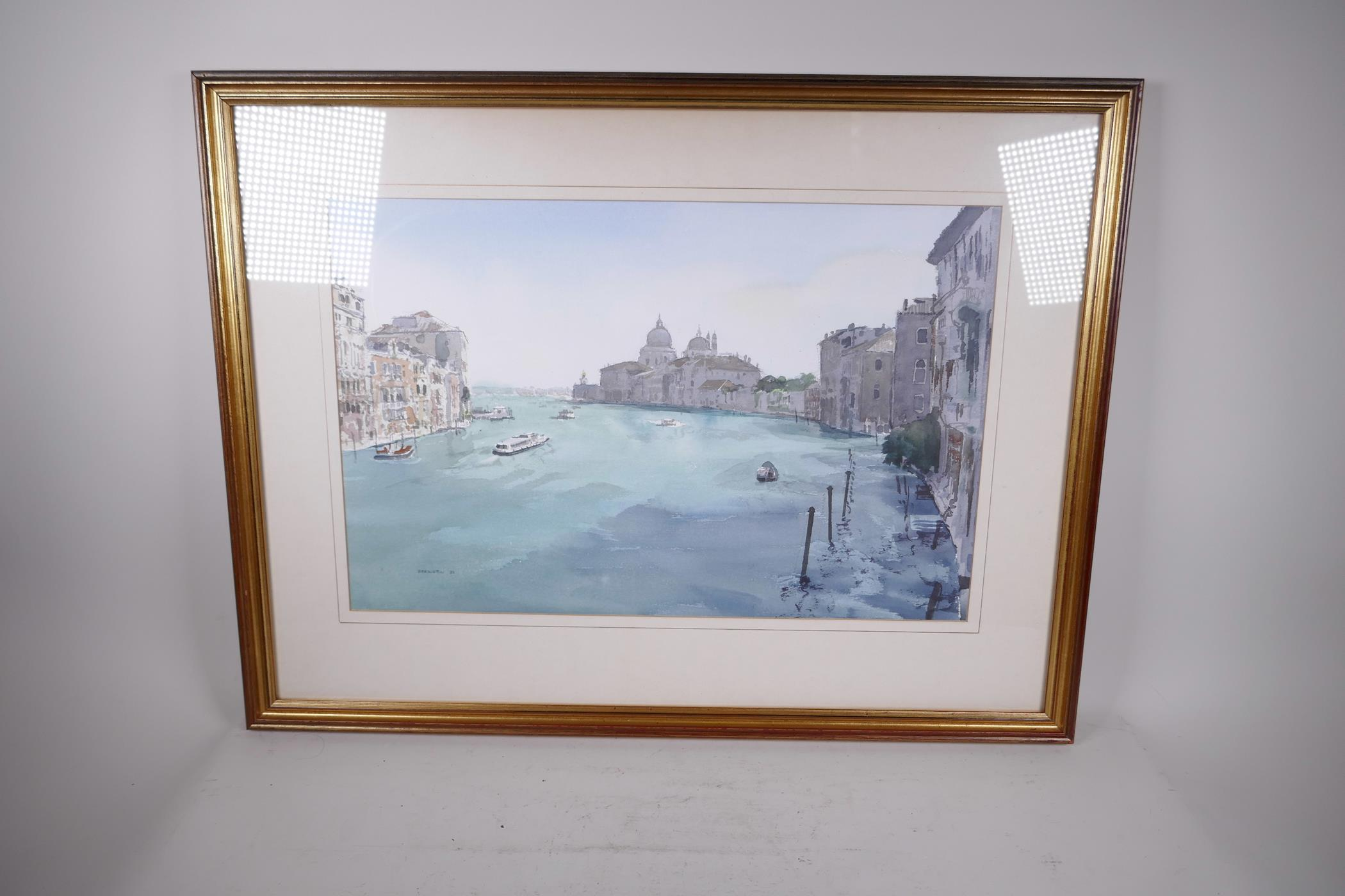 "Berrington, Venetian scene, signed and dated '82, watercolour, 21"" x 13½"" - Image 2 of 3"