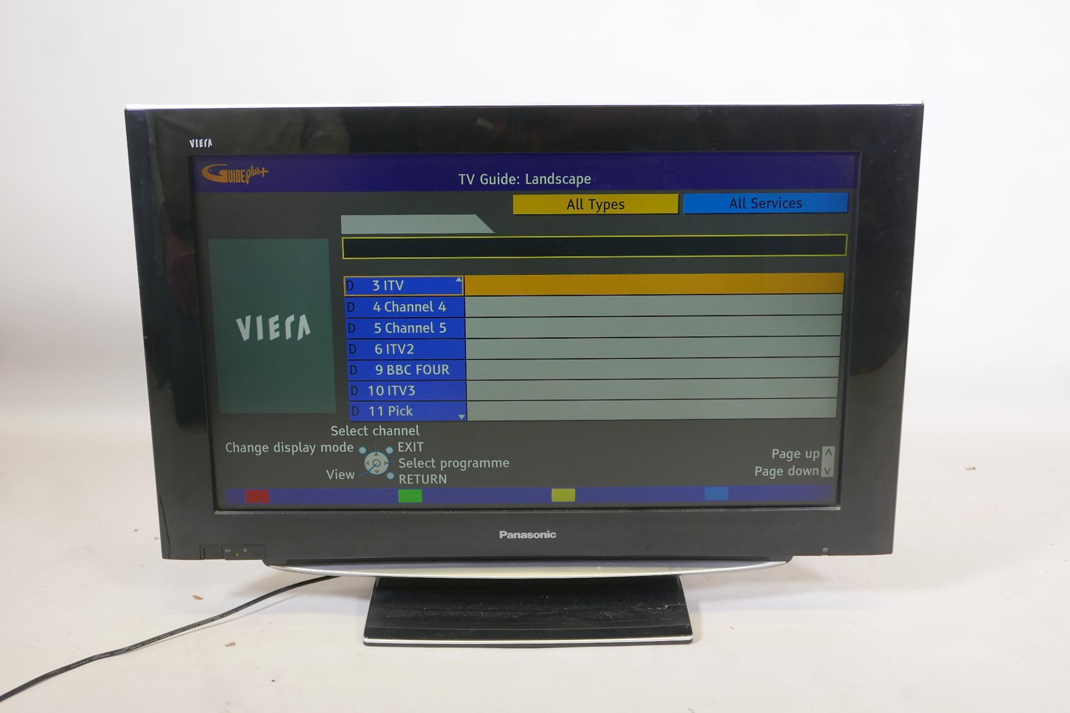 "A Panasonic Viera 32"" HD TV, model TX-32LZD85, with remote"