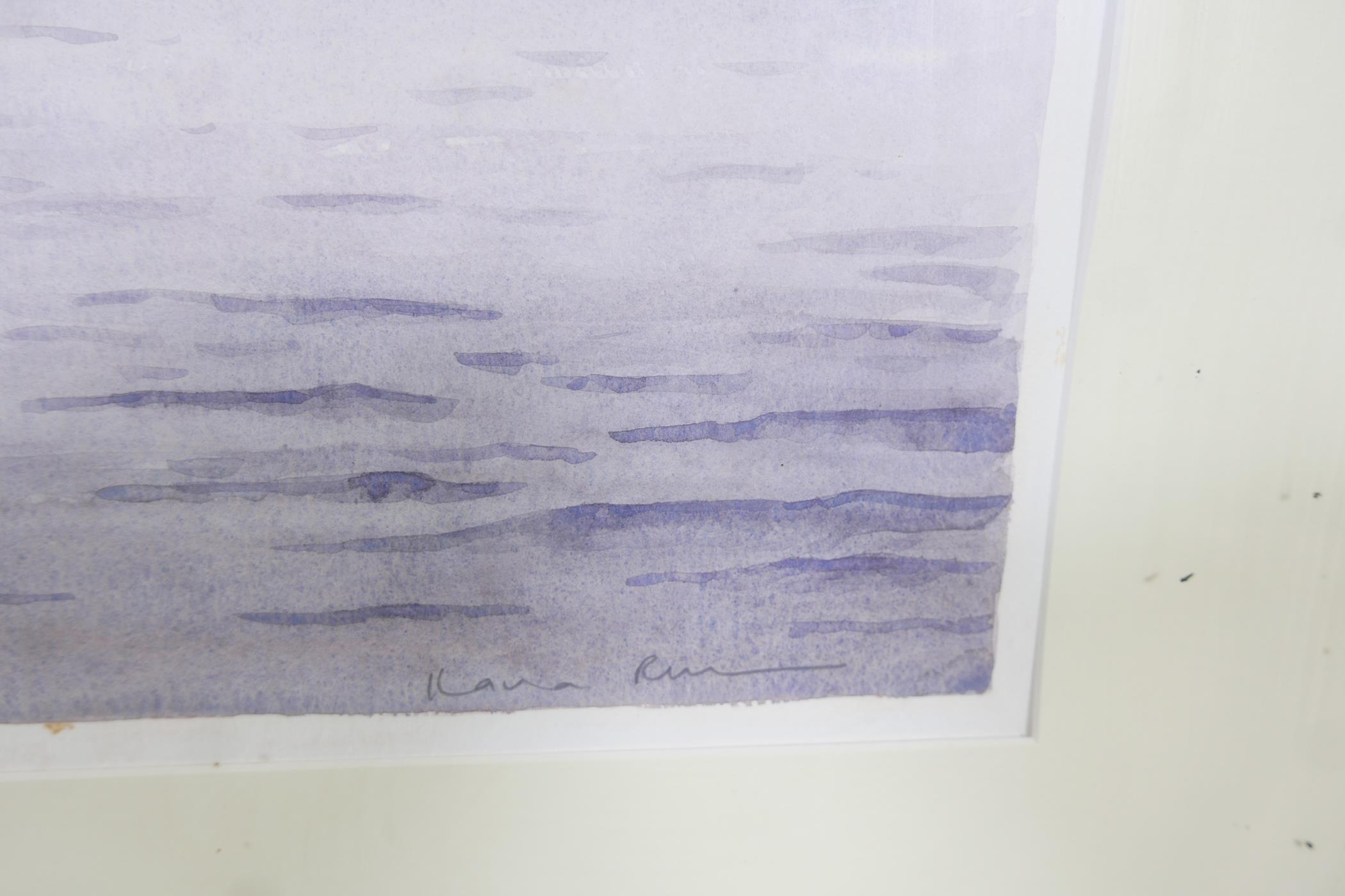 "A colour print of Venice lagoon, Morning mist San Georgio, by Ilana Richardson, 28"" x 20½"" - Image 3 of 4"