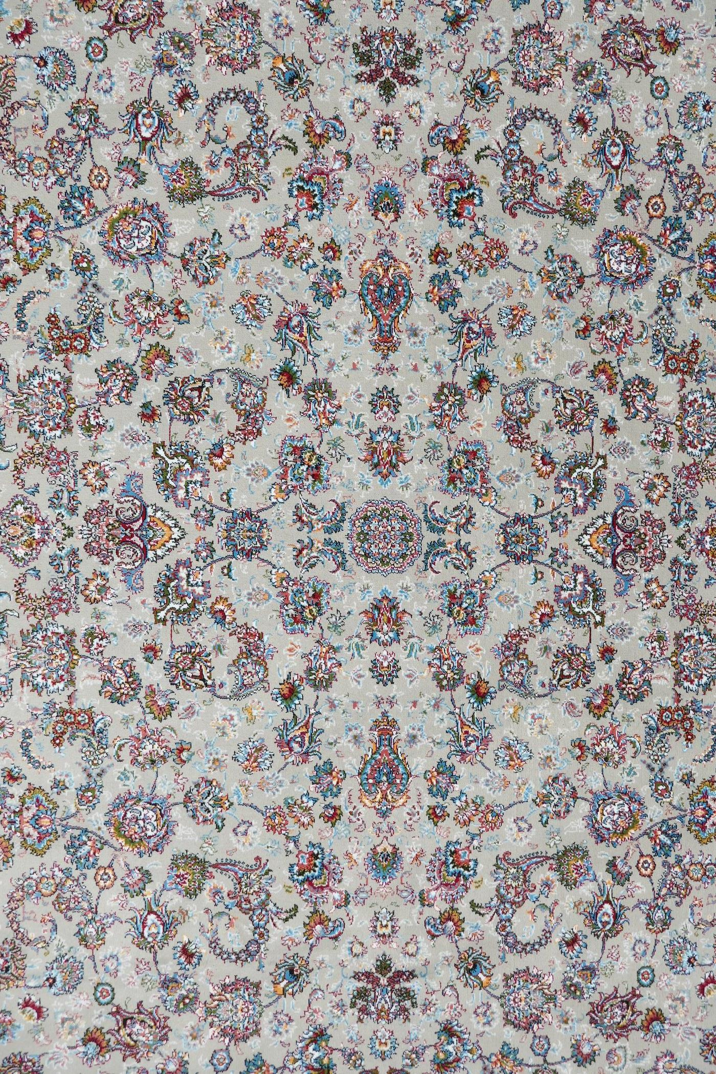 """A fine woven beige ground full pile Iranian carpet with an all over floral pattern, 118"""" x 78"""" - Image 2 of 5"""