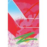 """Paul Ryan, abstract print titled 'Red', 9"""" x 11½"""""""