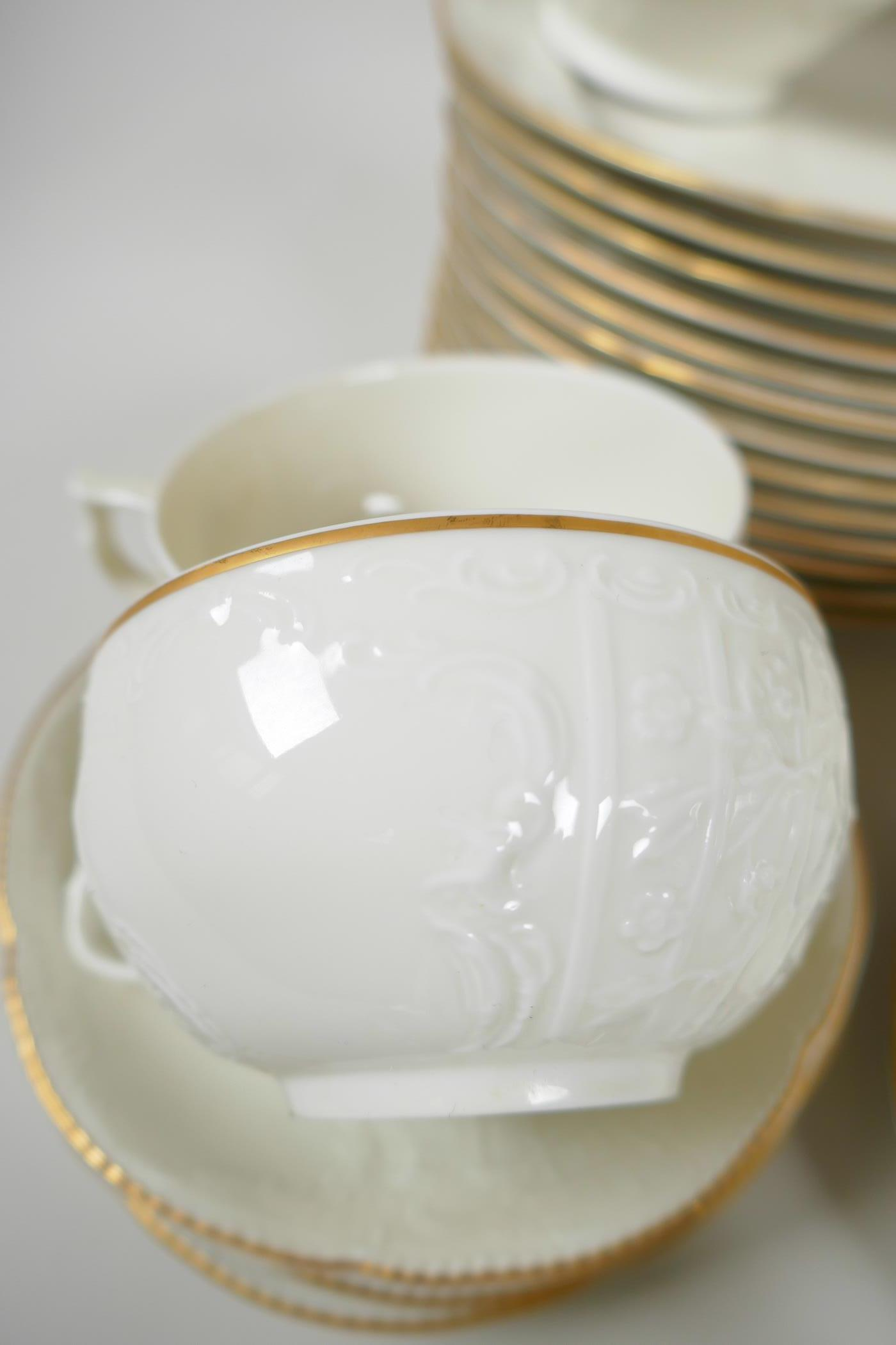 A Rosenthal 'Classic' part dinner and tea service with cream glaze and embossed decoration - Image 5 of 5