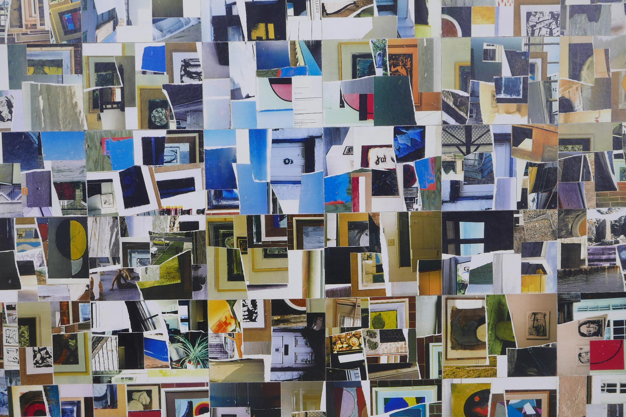 """George Holt, 'Autobiographical fragments', labelled and titled verso, mixed media, 45"""" x 35"""""""