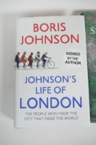 Four volumes: Johnson's life of London by Boris Johnson (signed edition), The Secret Garden by