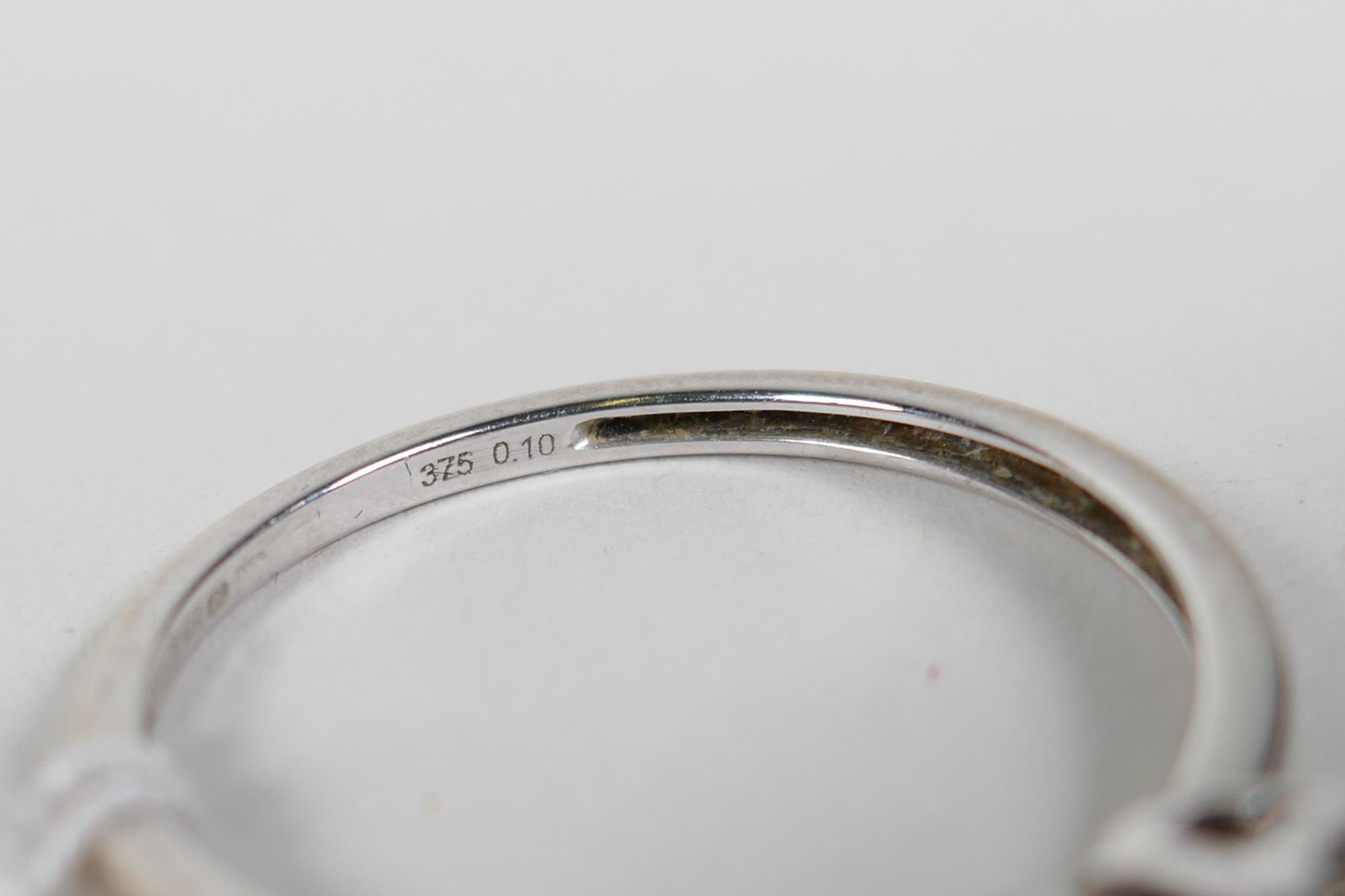 An 18ct white gold and diamond engagement ring, approximate size 'N' - Image 3 of 4