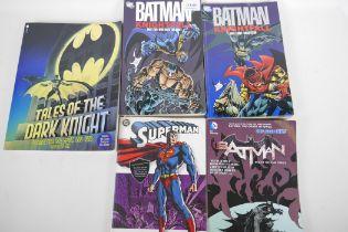 Five graphic novels, 'Batman' Knightfall parts 2 and 3, Batman 'The Court of Owls', Superman