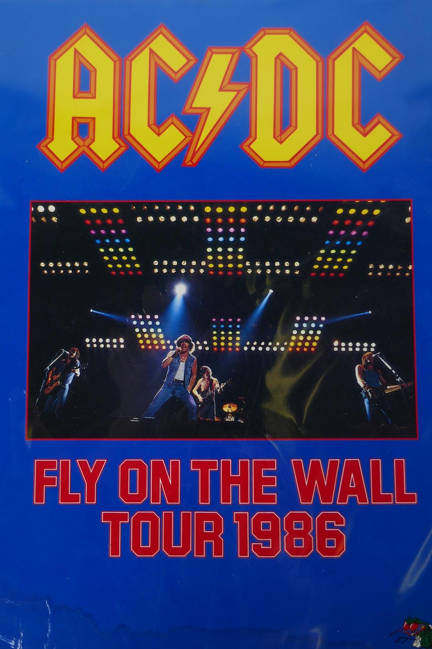 An AC/DC 'Fly on the Wall' World Tour 1986, official concert tour programme, 24 pages including tour