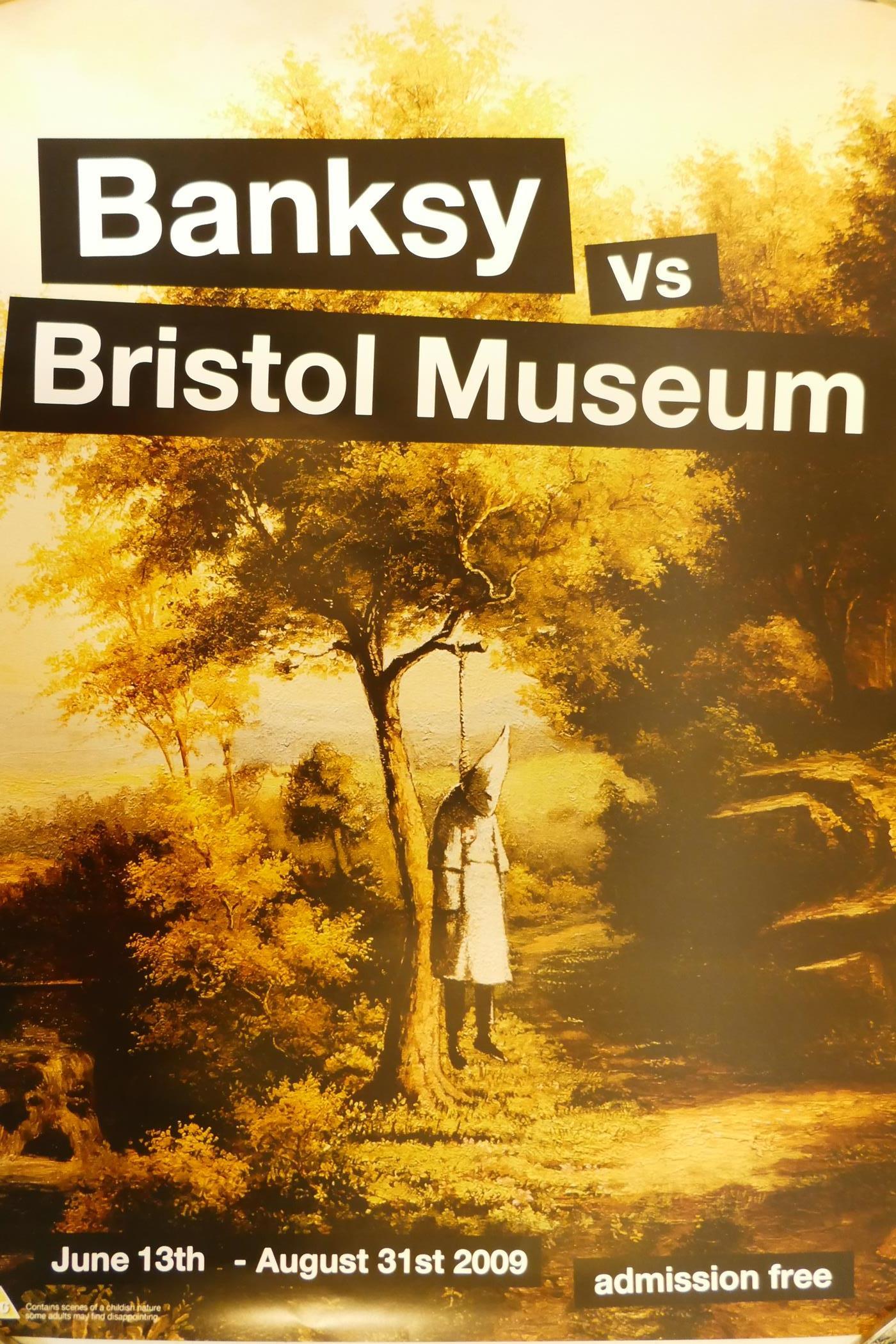 "Banksy - Banksy vs Bristol Museum, June to August 2009, depicting a KKK lynching, 16½"" x 23"""