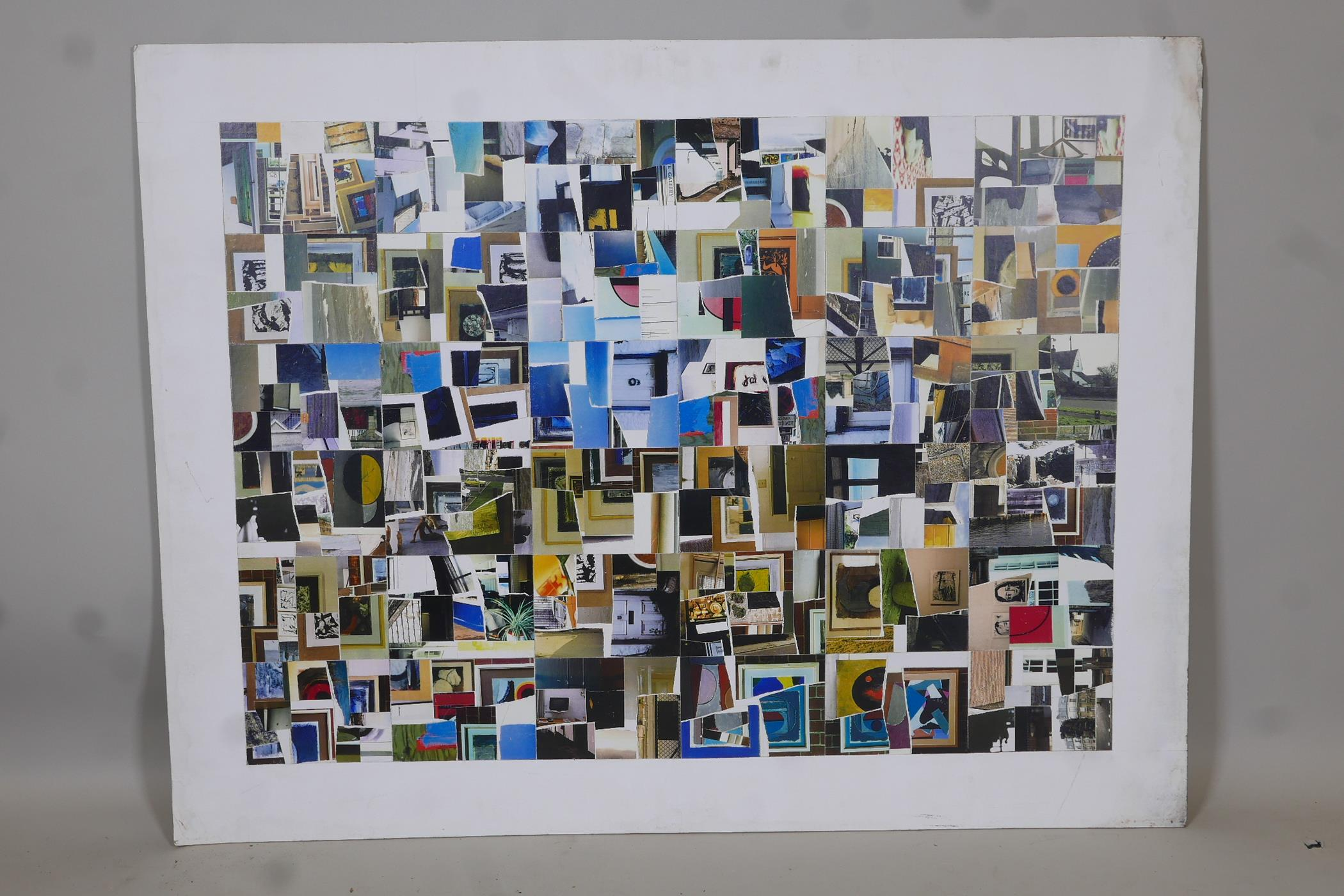 """George Holt, 'Autobiographical fragments', labelled and titled verso, mixed media, 45"""" x 35"""" - Image 2 of 5"""
