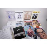 A quantity of assorted rock and roll ephemera, including magazines, pictures, letters etc, some