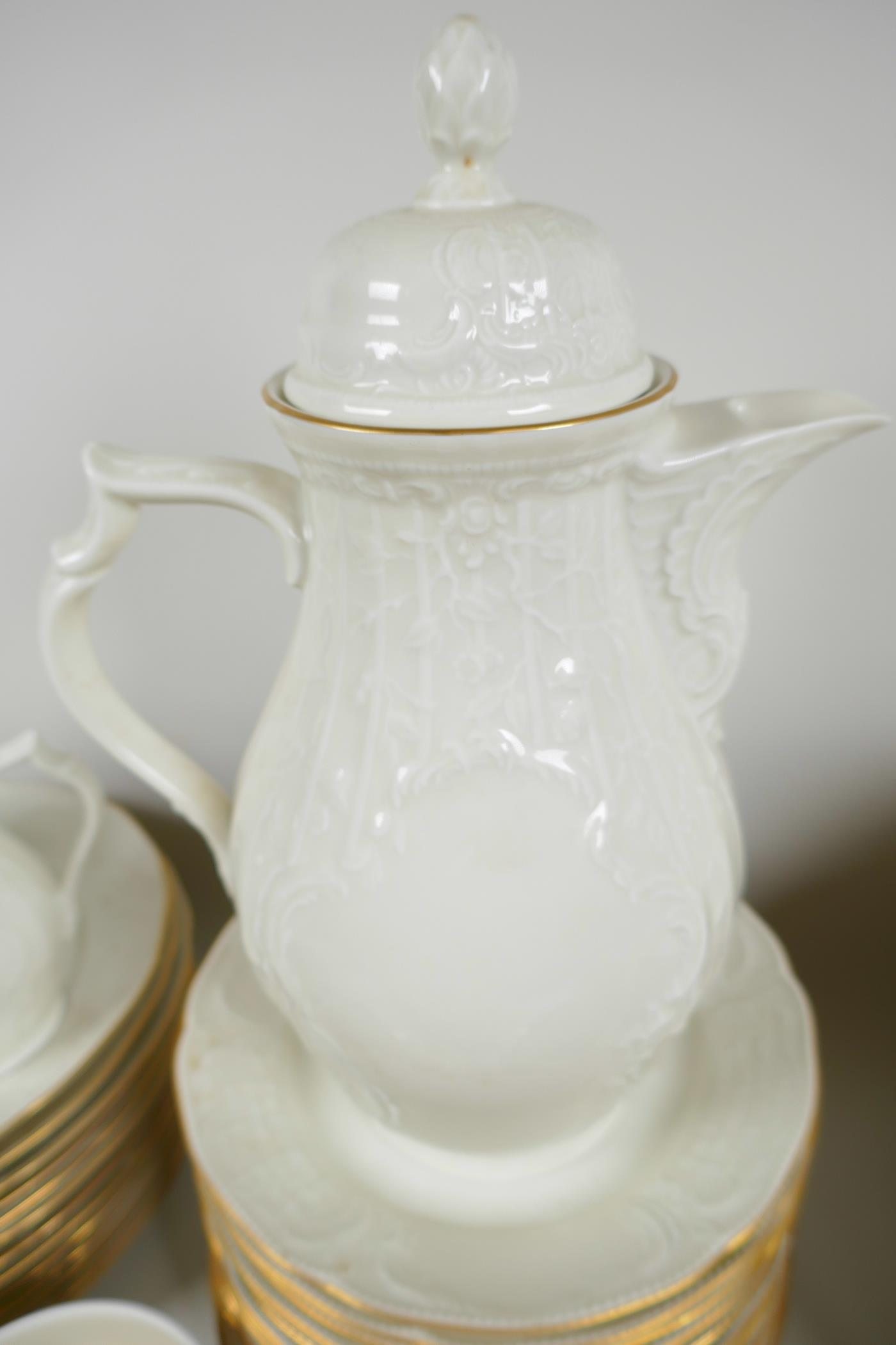 A Rosenthal 'Classic' part dinner and tea service with cream glaze and embossed decoration - Image 3 of 5