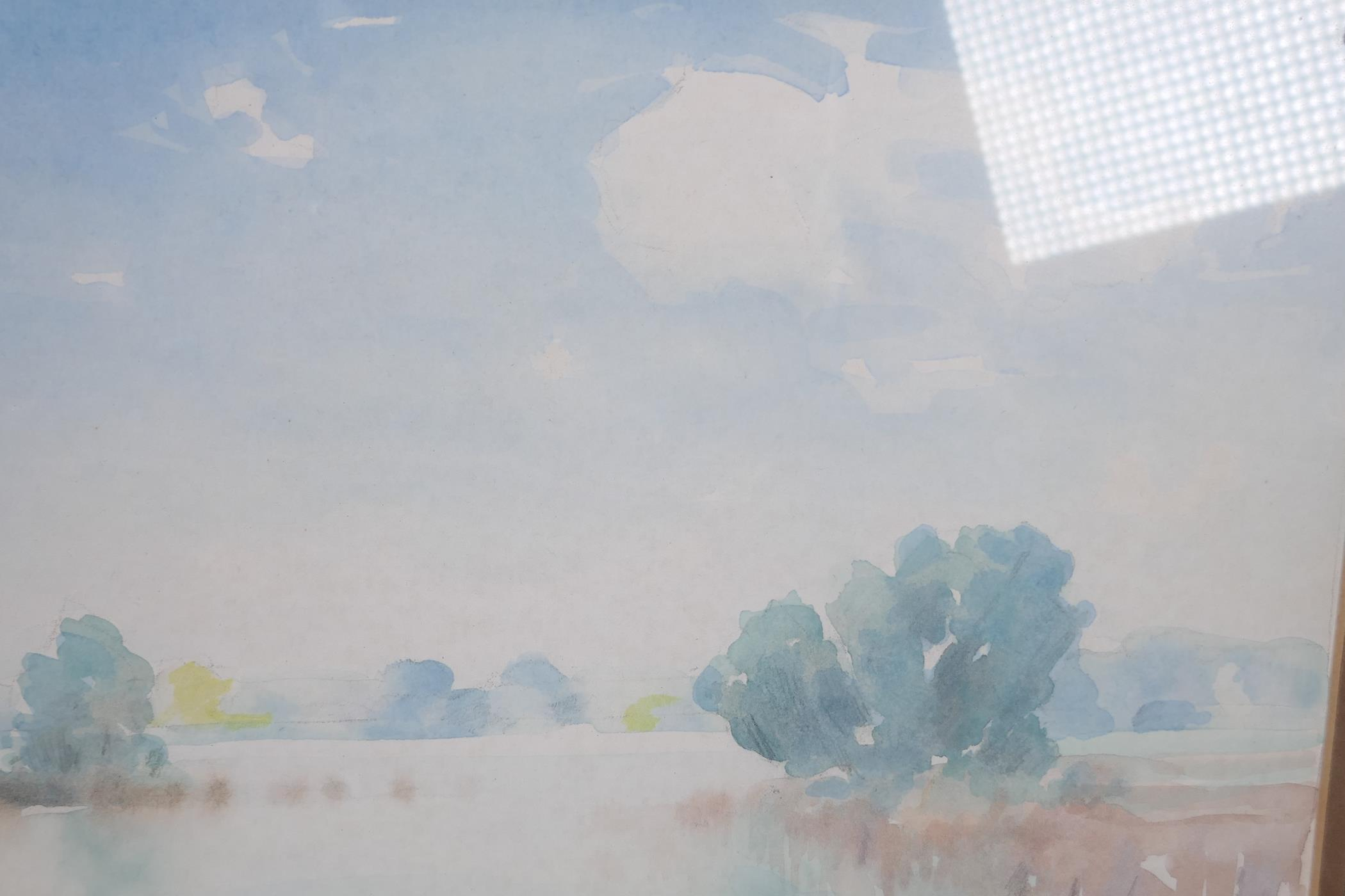 """Lee Brown, three watercolour landscapes, largest 9"""" x 6"""", signed - Image 4 of 4"""