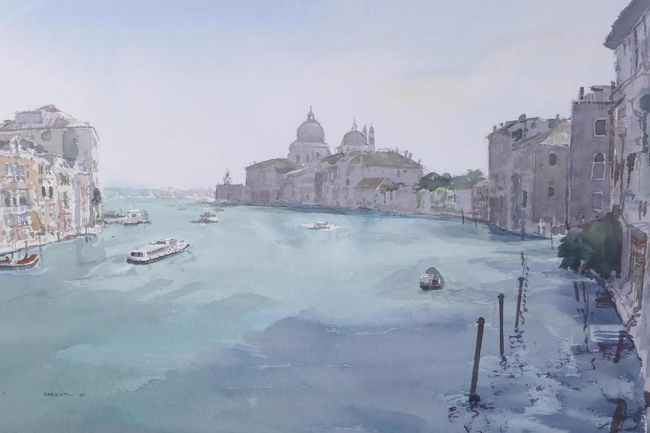 "Berrington, Venetian scene, signed and dated '82, watercolour, 21"" x 13½"""