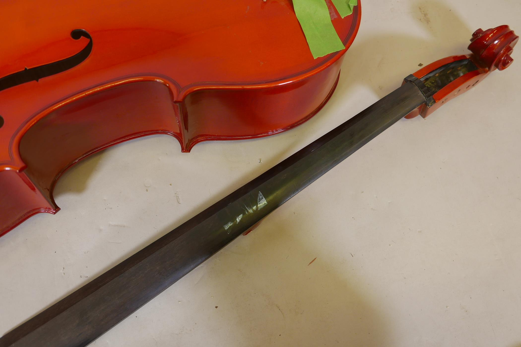 A cello for restoration, no tuning pegs - Image 4 of 4