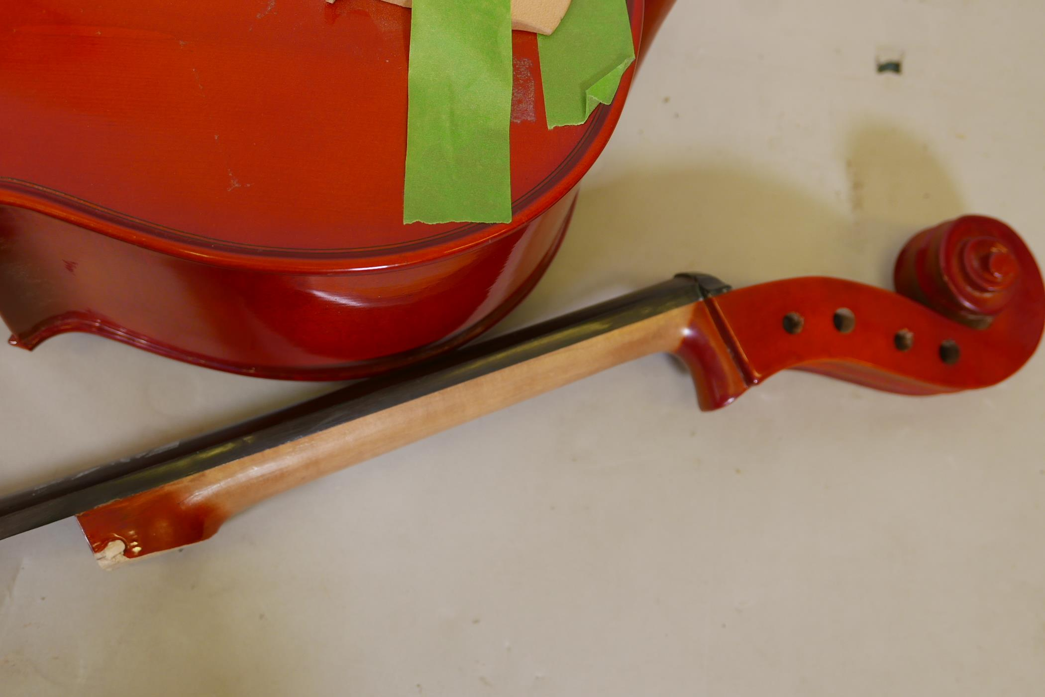 A cello for restoration, no tuning pegs - Image 3 of 4