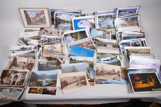Approximately 400 postcards, mainly topographical and tourist, and a small quantity of social