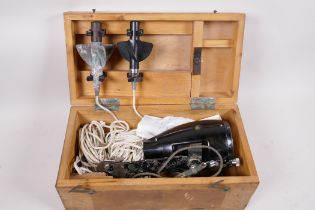 A Walker's Knotmaster MkIIIA marine log (speedometer) in original box with fittings and