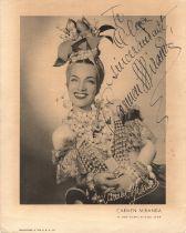 Carmen Miranda (Portuguese/American, 1909-1955) – Portuguese-born Brazilian samba singer and dancer