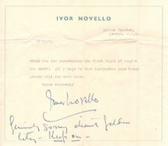 Ivor Novello (British, 1893-1951) – iconic composer and actor