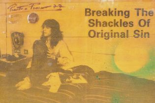 Pietro Psaier, photographic mixed media promotional poster for Patti Smith's 'Breaking the