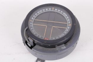 """A WWII aircraft compass, No 6A/1672, as fitted in the Spitfire Hurricane etc, 5"""" diameter"""