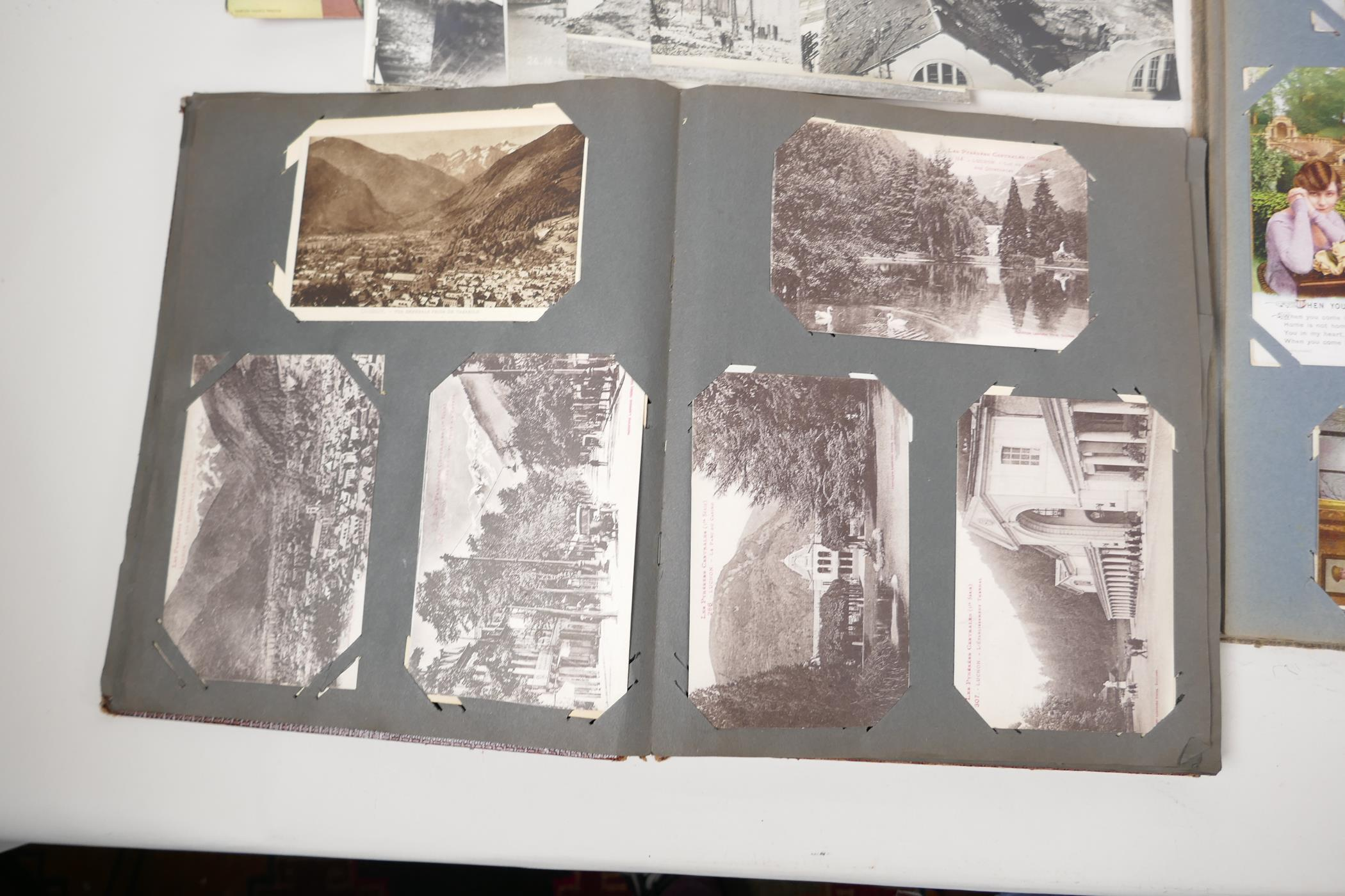 A quantity of C20th postcards, mostly WWI sweetheart cards, and French topographical, and a - Image 6 of 7