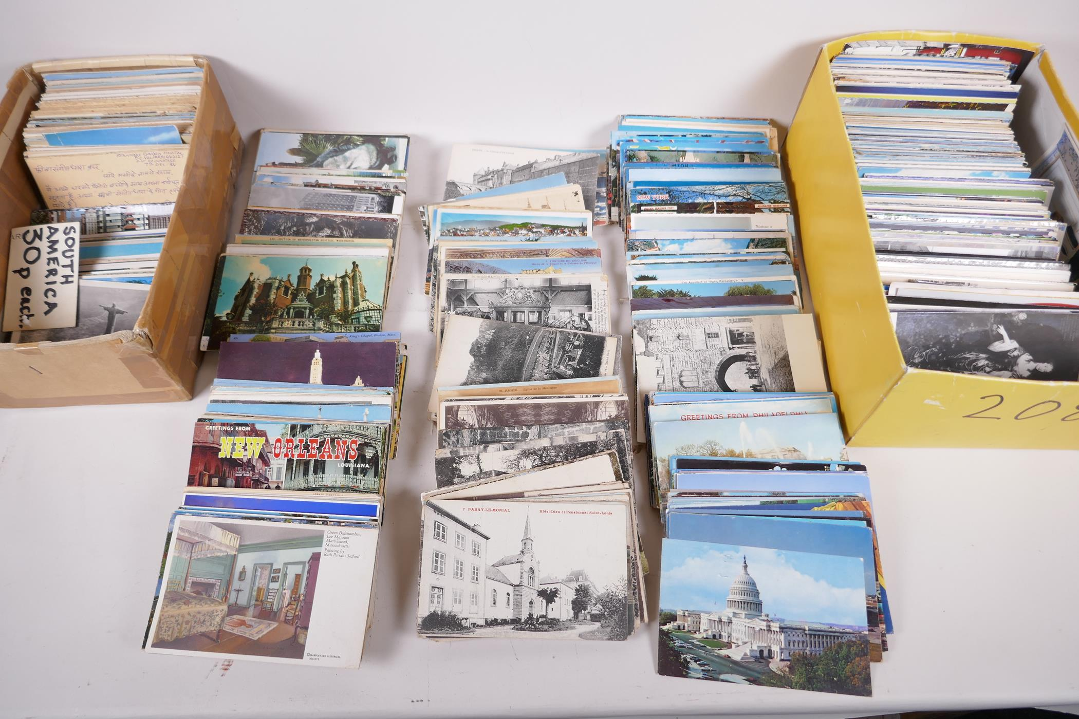 A collection of postcards, mainly topographical to include USA approx 800, and a collection of - Image 5 of 10