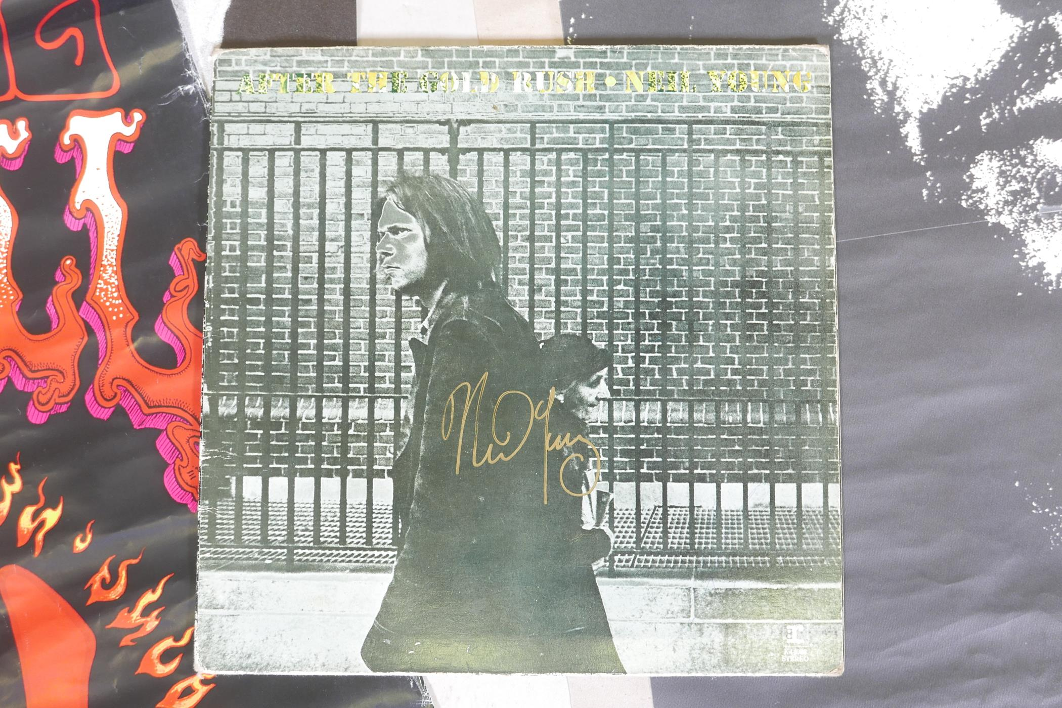 """'After the Gold Rush' 12"""" vinyl, the cover signed by Neil Young, with three Neil Young posters - Image 2 of 3"""