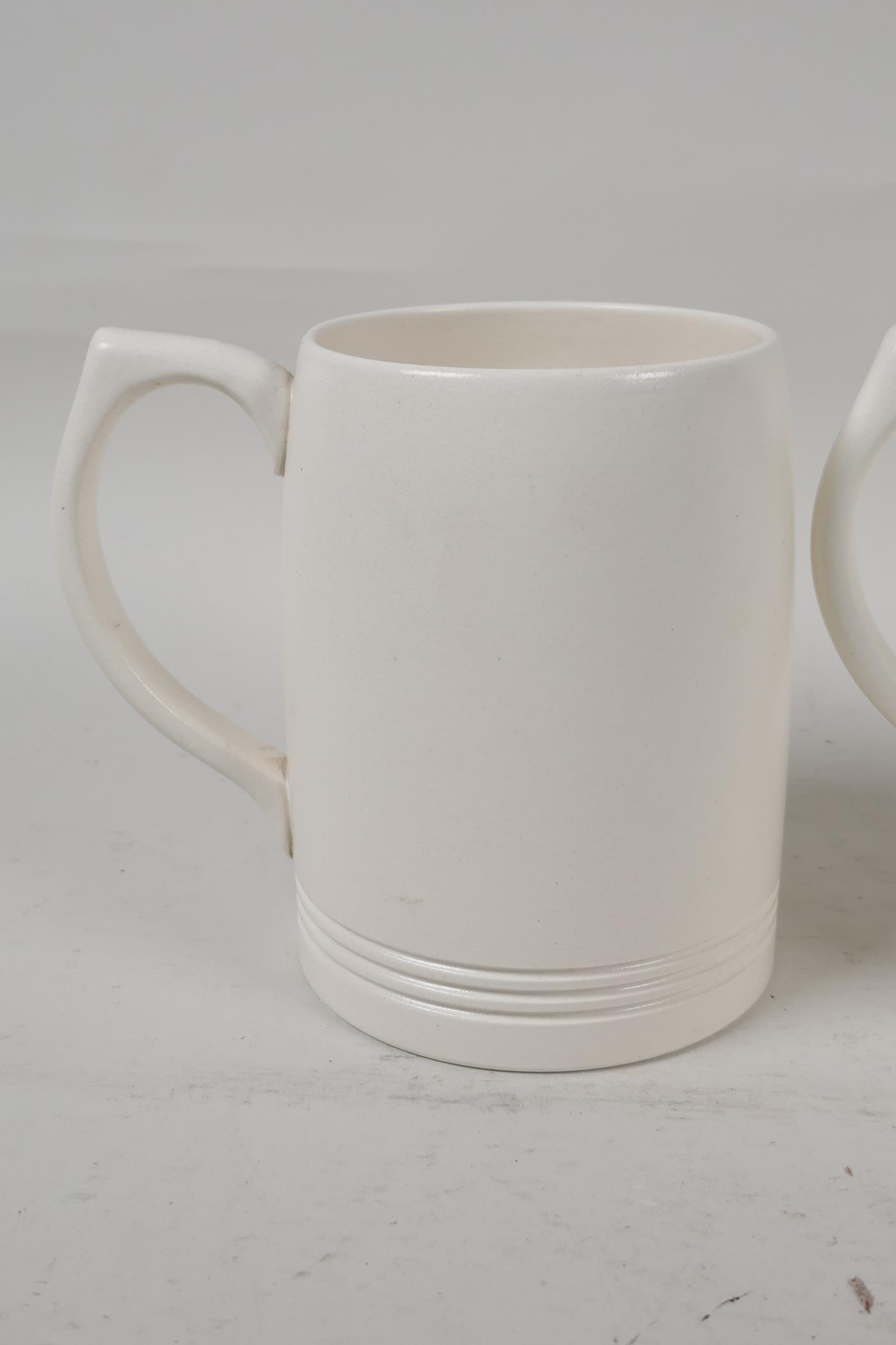 """Two Wedgwood Keith Murray tankards, 4½"""" high - Image 2 of 4"""