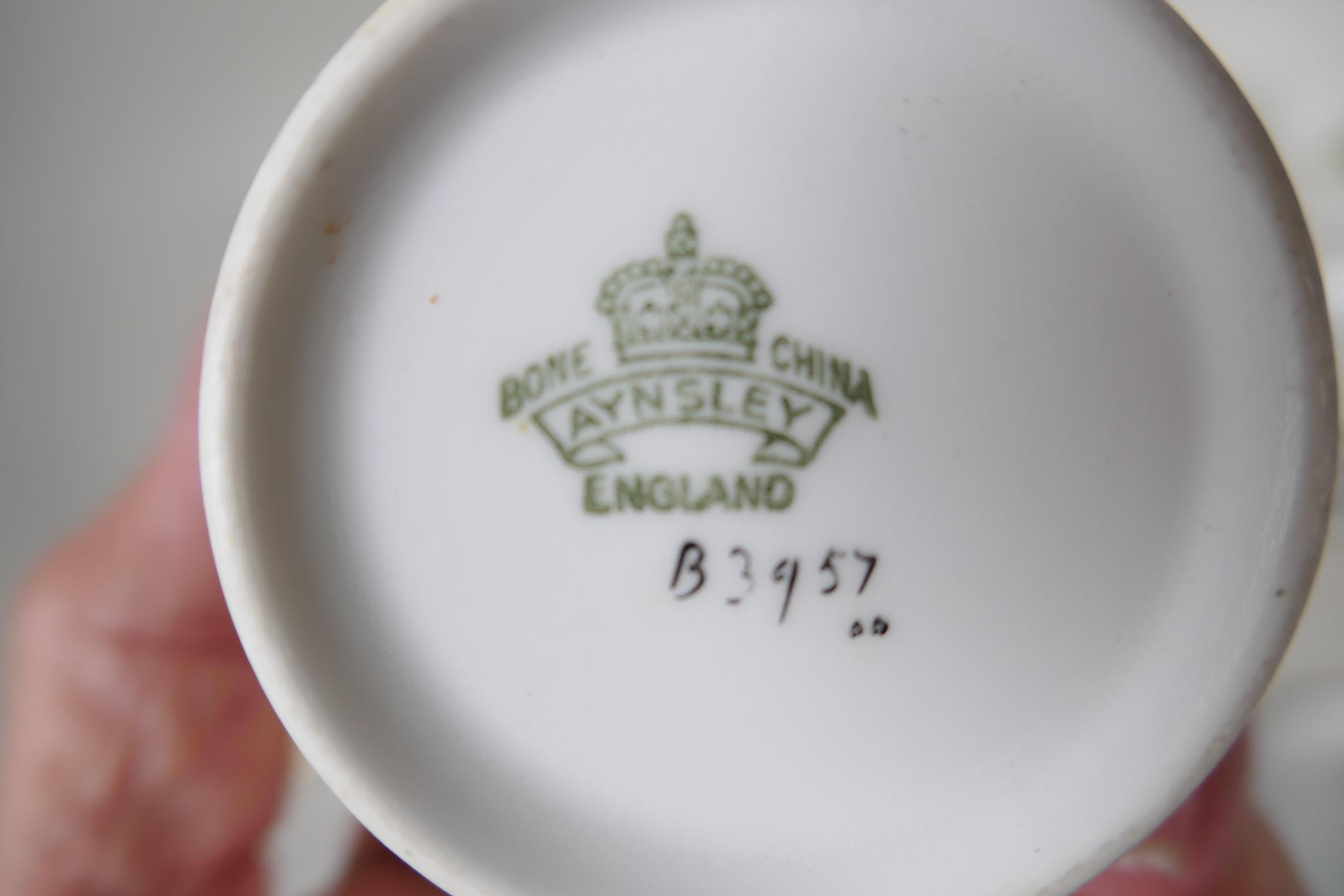 A five place setting Aynsley china tea set with milk jug, together with a five place setting Shelley - Image 3 of 5