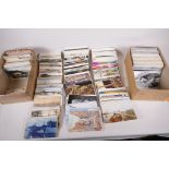 A collection of postcards, mainly European topographical, approx 750, and a further quantity of