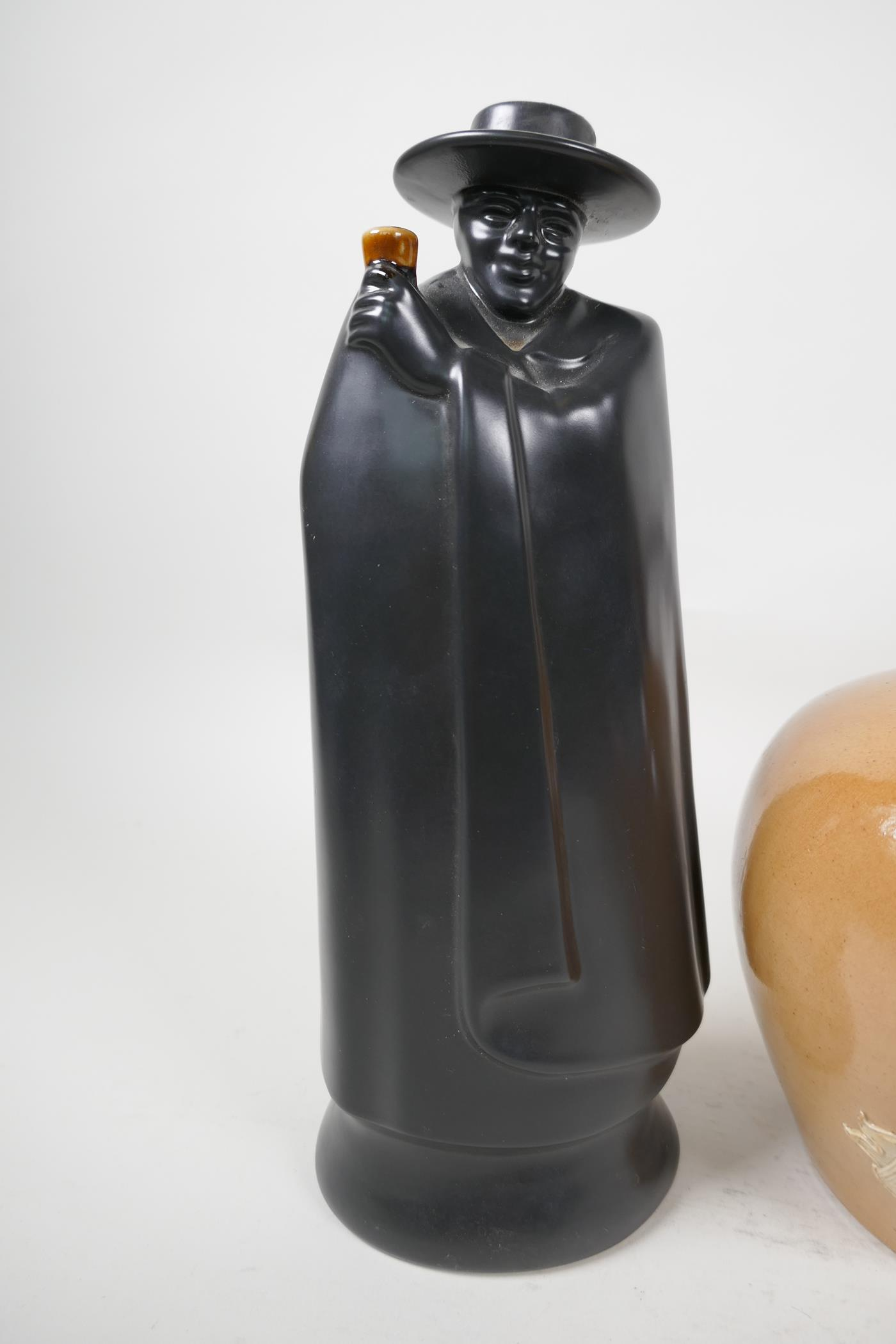 A Stoneware Highland Whisky flask, a Wedgwood 'Don' for Sandeman Sherry decanter and an Australian - Image 3 of 5
