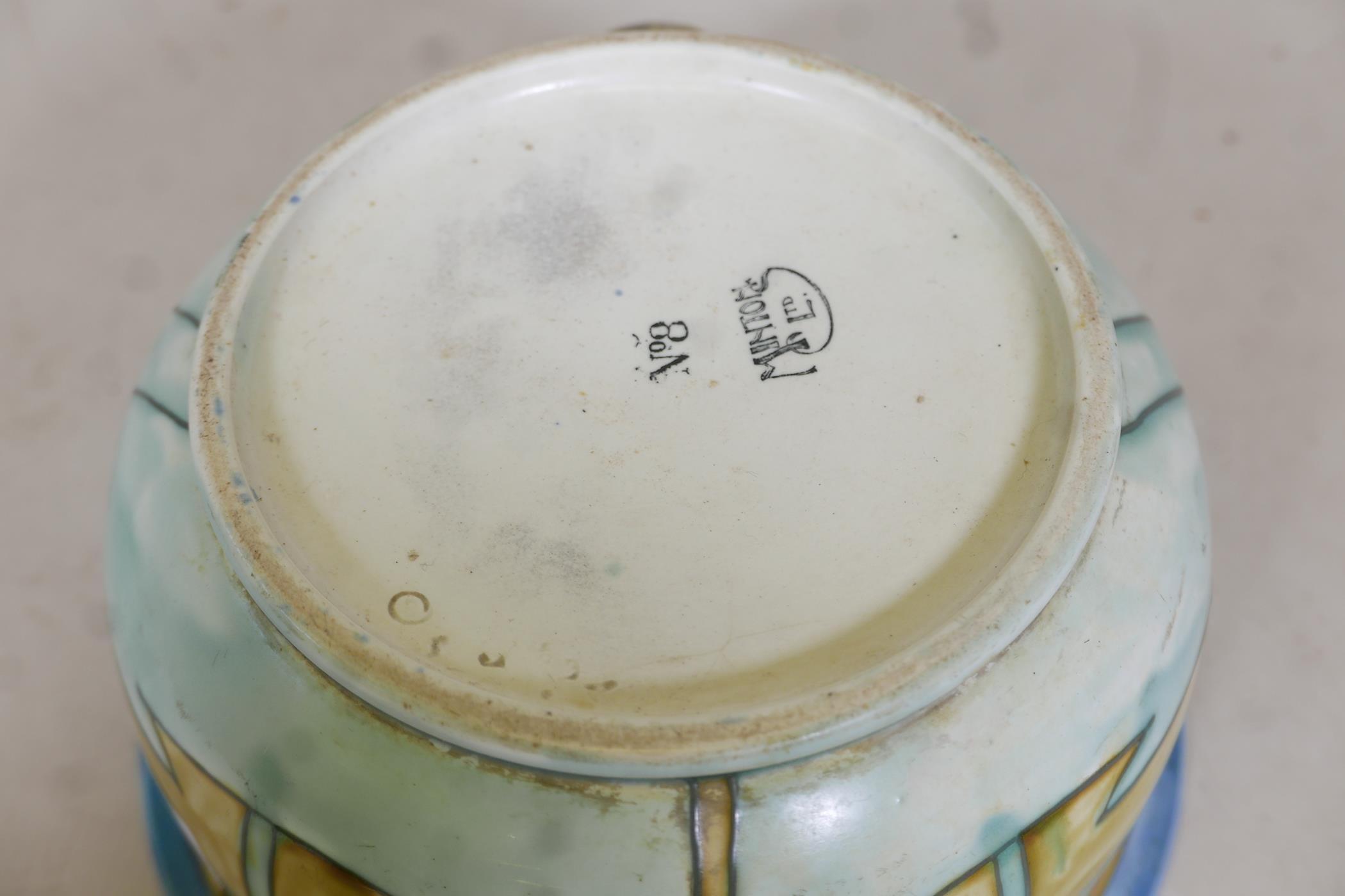 """A Minton succesionist chamber pot, 9"""" diameter - Image 3 of 3"""