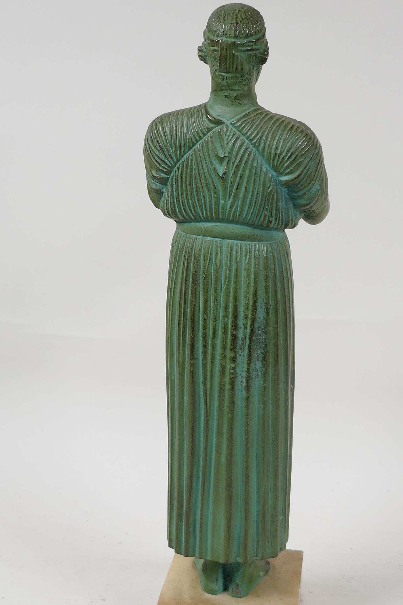 """A bronze figure of a Greek philospher, after the antique, 13½"""" high - Image 4 of 4"""