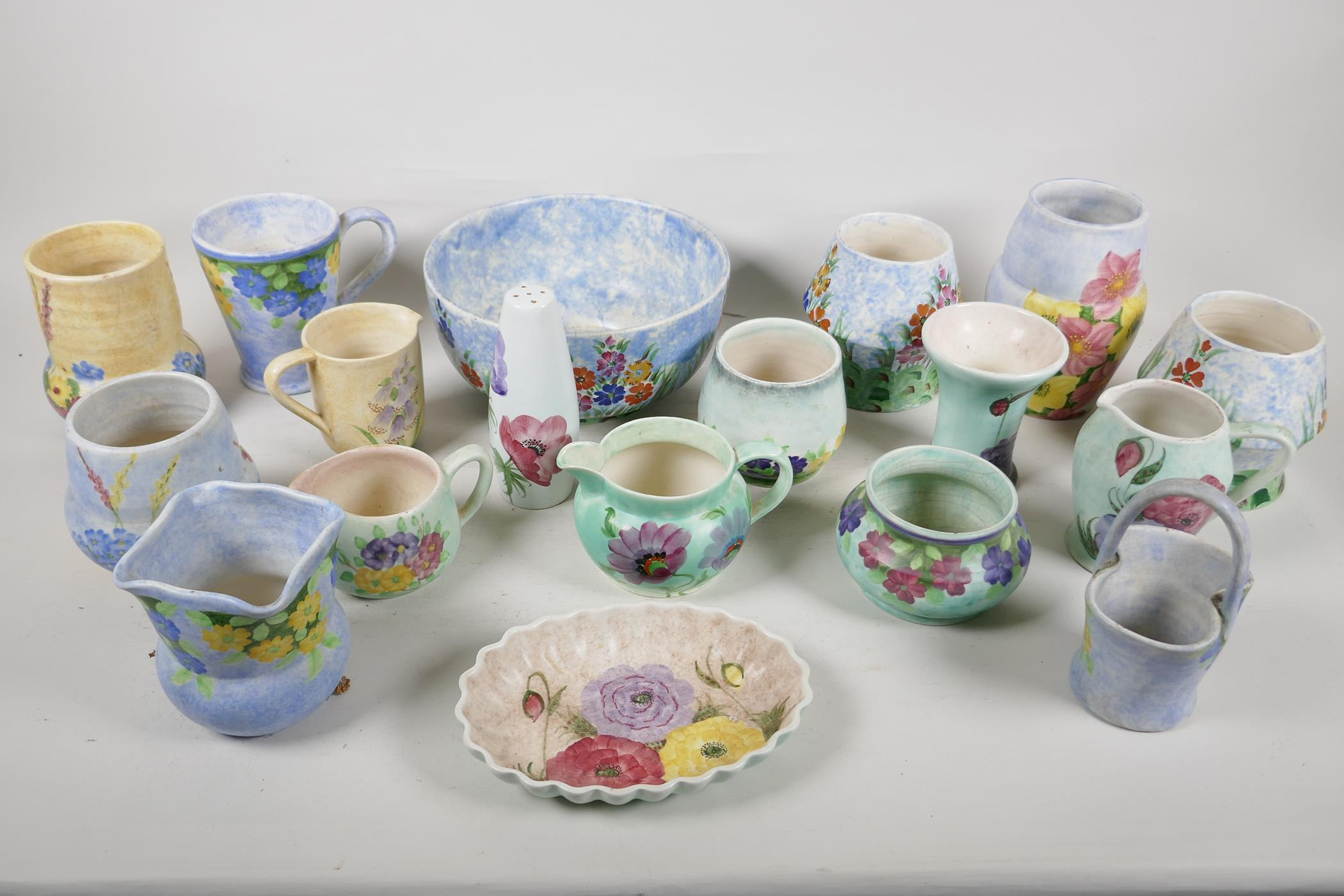 A quantity of vintage studio pottery, mainly Radford