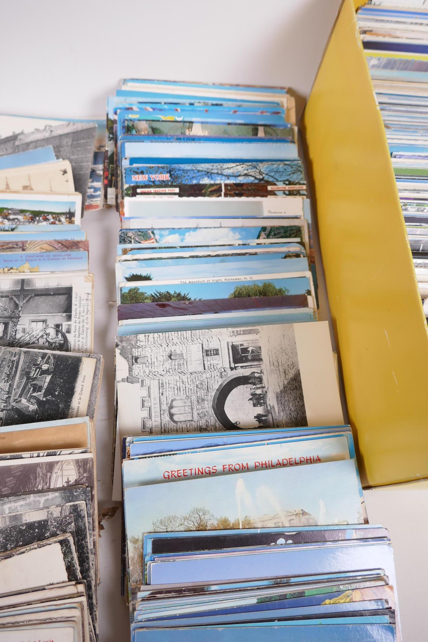 A collection of postcards, mainly topographical to include USA approx 800, and a collection of - Image 9 of 10