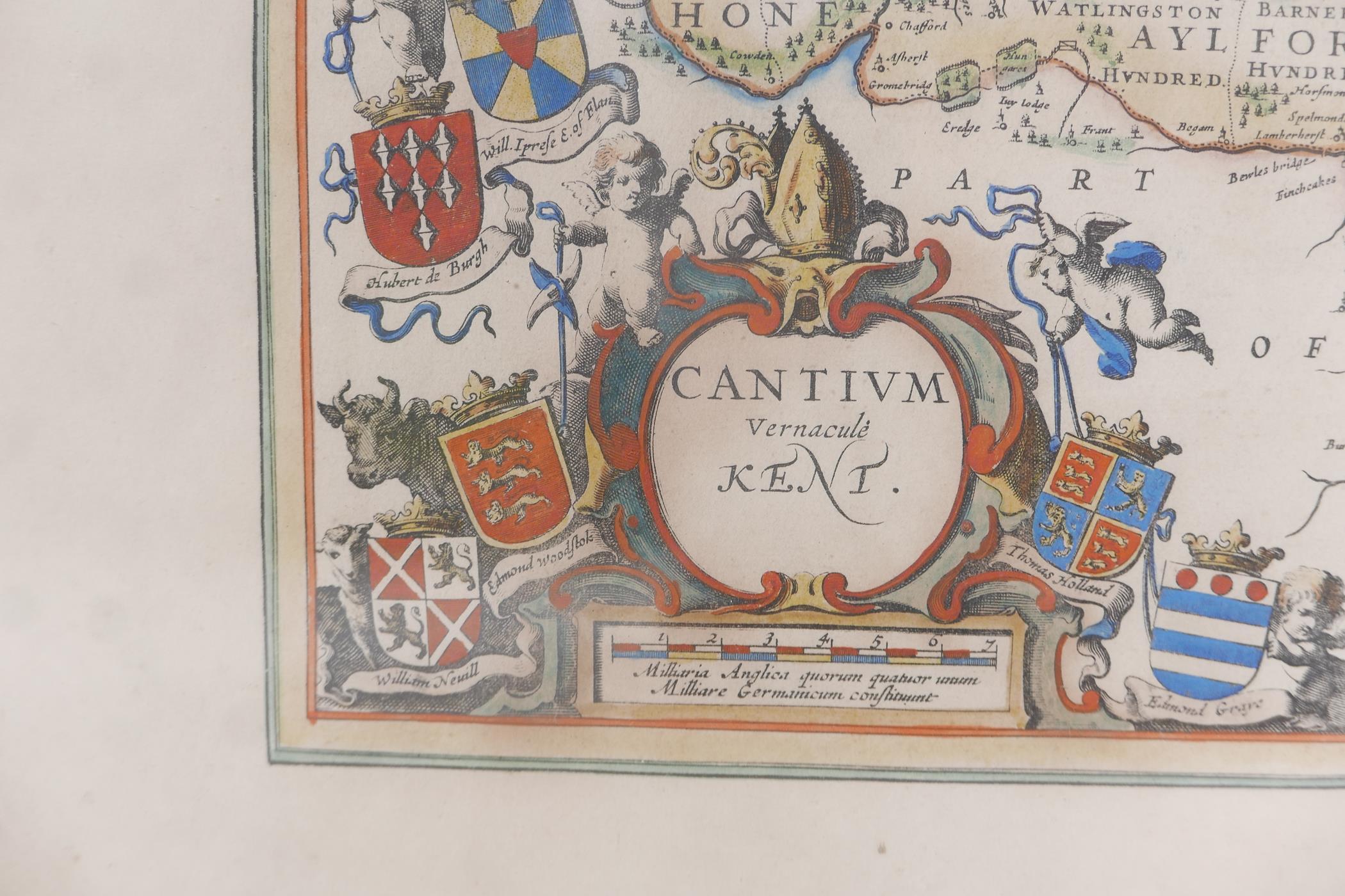 Map of Kent, Cantium vernacule Kent, and another of Surrey, Surria vernacule Surrey, both hand - Image 5 of 5