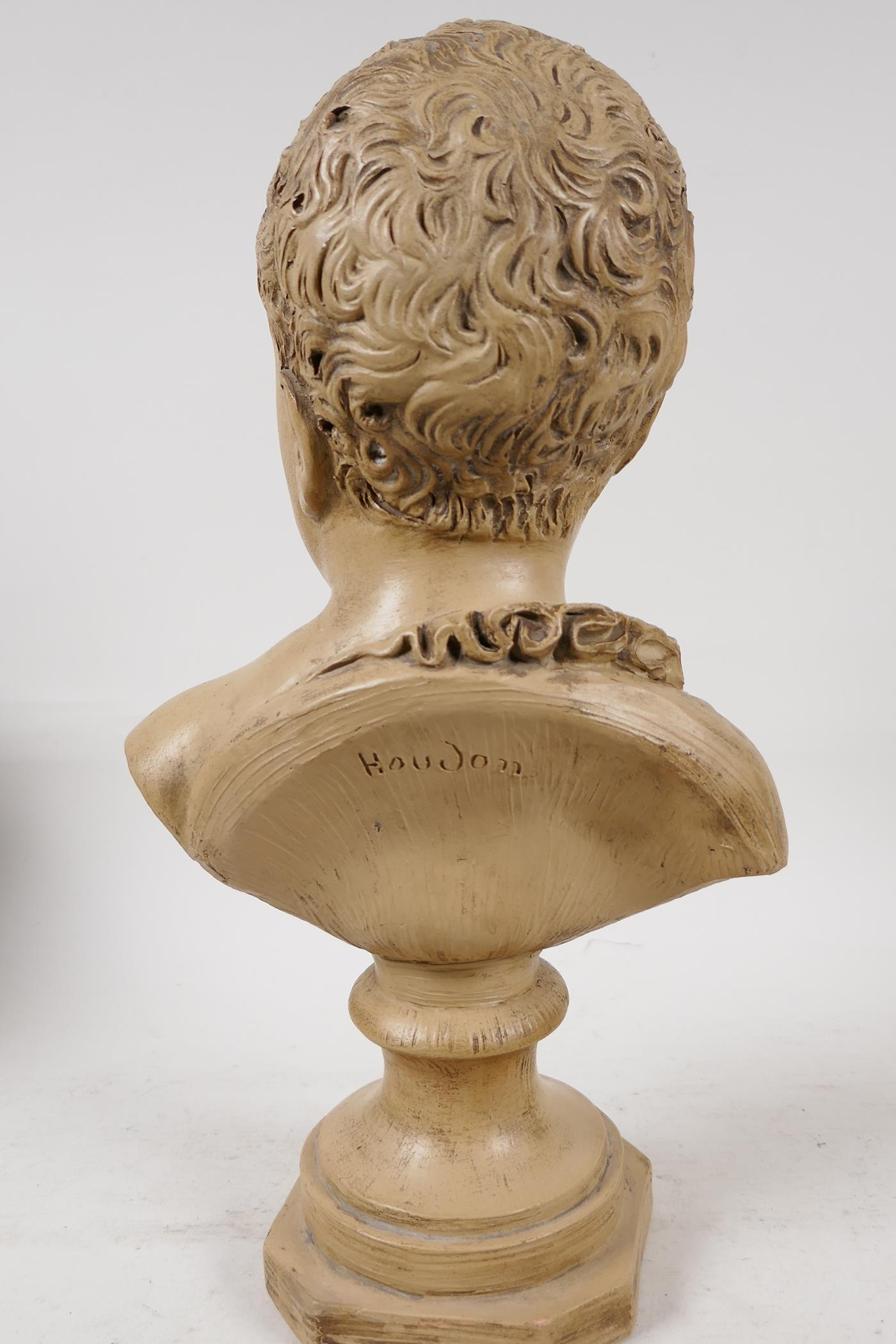 """A terracotta bust of a chld, after J.A. Houdon, 13"""" high - Image 5 of 6"""