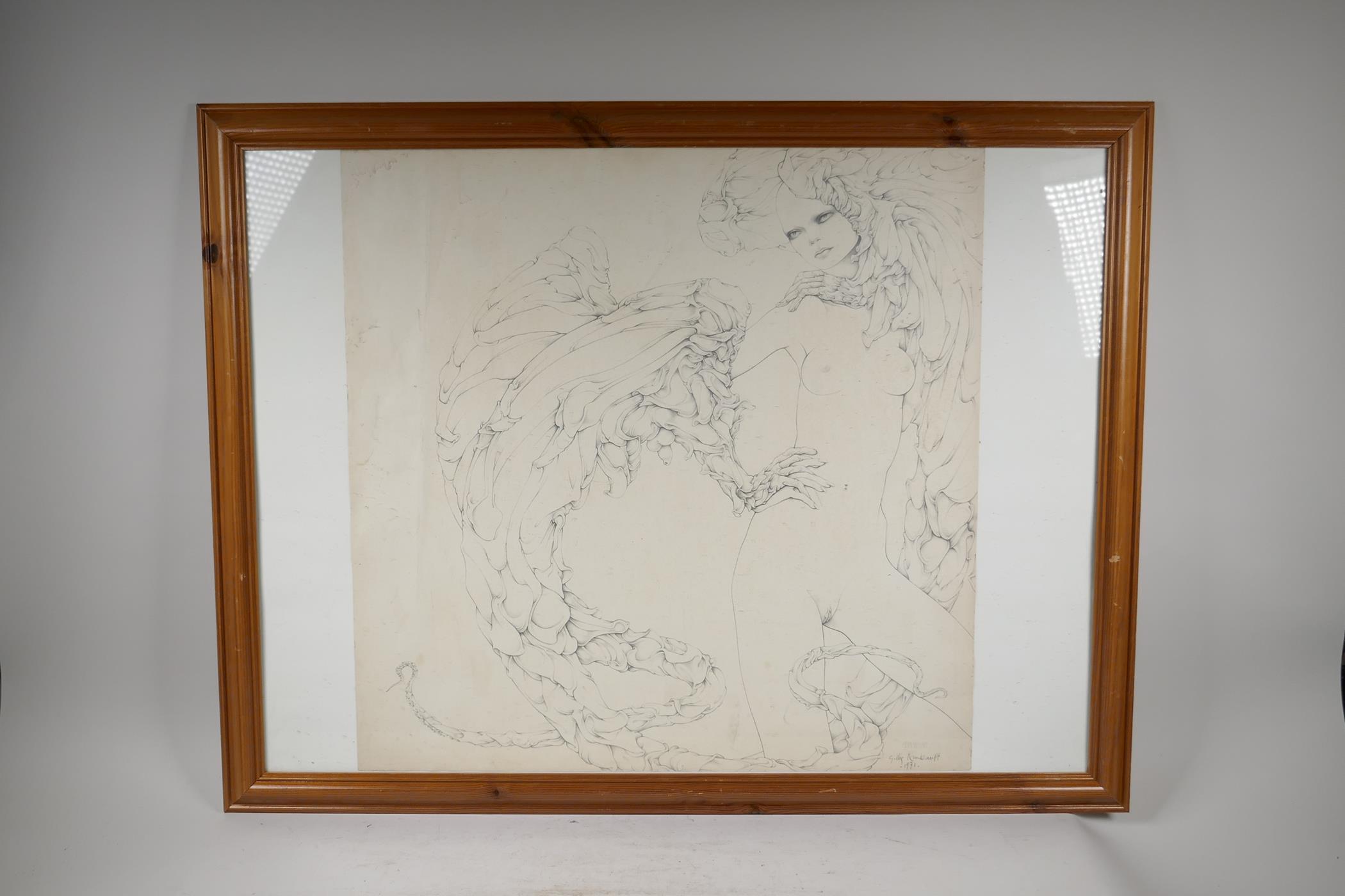 """After Gilles Rimbault, Studio 69, erotic surrealist art print, stamped, 23"""" x 23"""" - Image 3 of 4"""