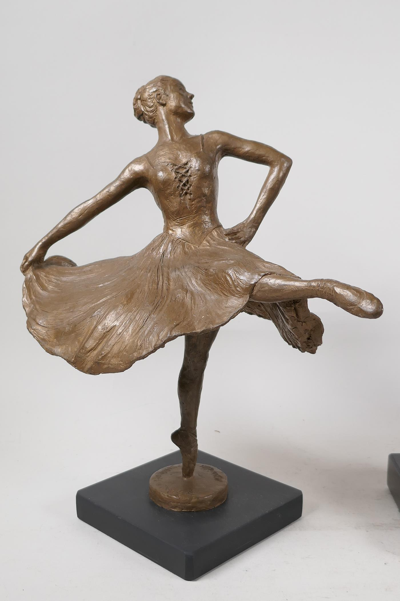 Nathan David, three limited edition bronzed composition figures of ballet dancers, Spirit of the - Image 2 of 9
