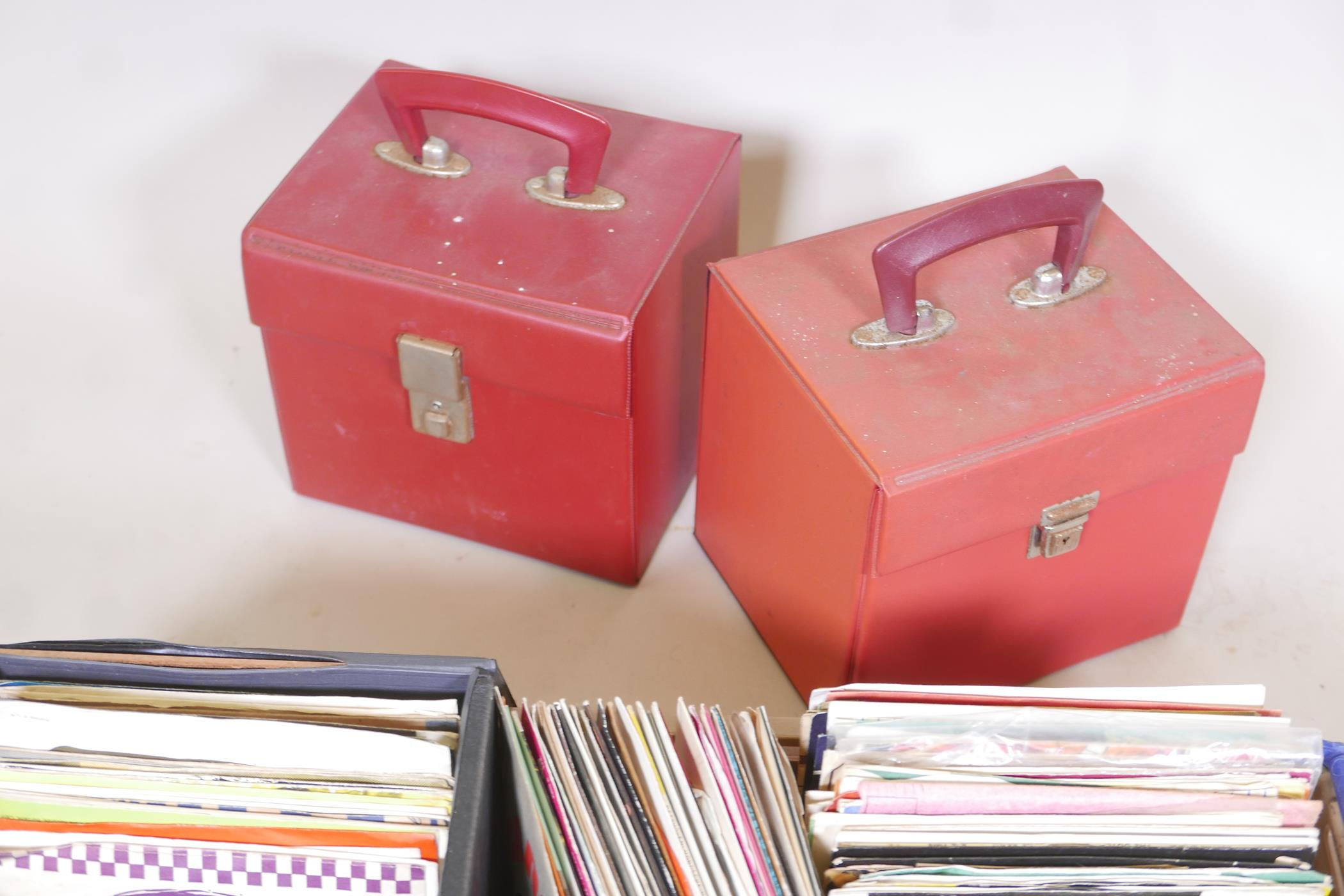 A large quantity of 45 vinyl singles, pop, classical, jazz, world etc, and four singles carry cases - Image 4 of 4