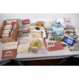 A collection of postcards, mainly topographical to include USA approx 800, and a collection of