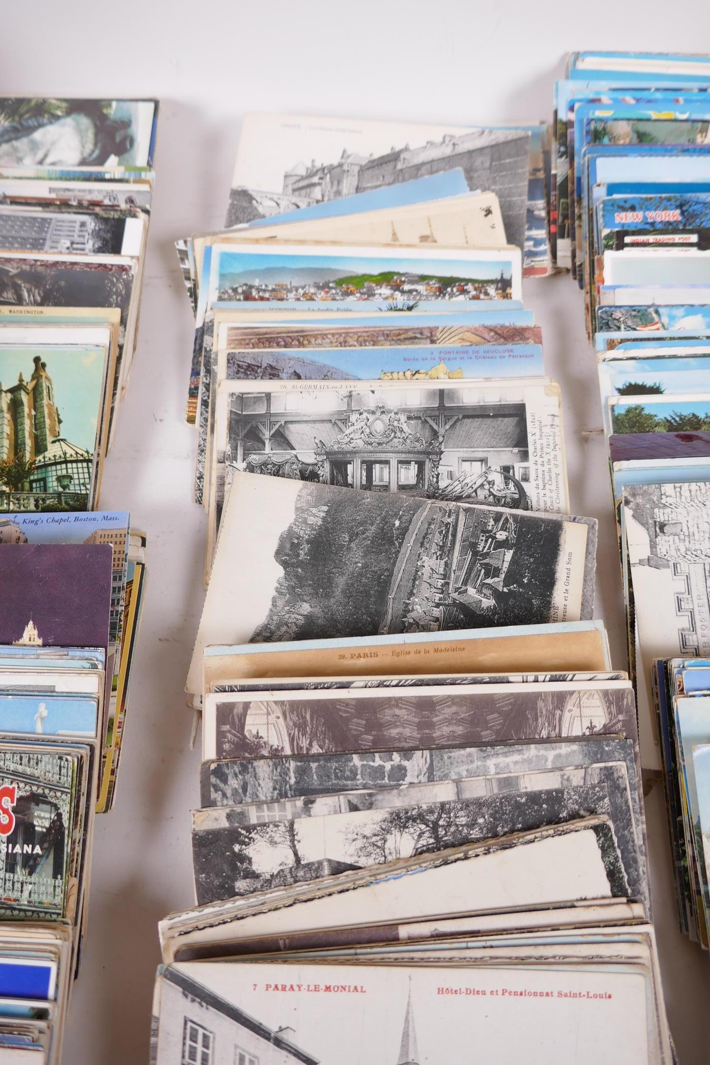 A collection of postcards, mainly topographical to include USA approx 800, and a collection of - Image 8 of 10