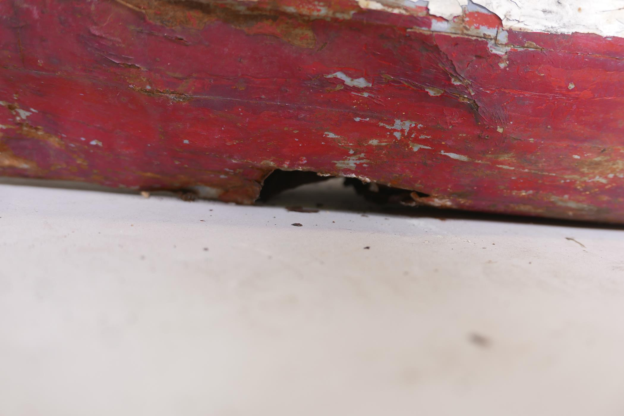 """A late C19th/early C20th scratch built painted iron steam boat, A/F, 44"""" long - Image 6 of 6"""