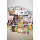 """A quantity of vinyl LPs and 12"""" singles, pop, classical, rock, musicals etc, over 200, to include"""